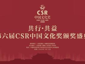 """2019年度第六届""""CSR中国文化奖""""颁奖盛典成功举办"""